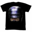 Robocop Shirt Robohead2 Adult Black Tee T-Shirt