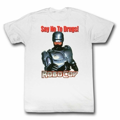 Robocop Shirt Say No To Drugs White T-Shirt