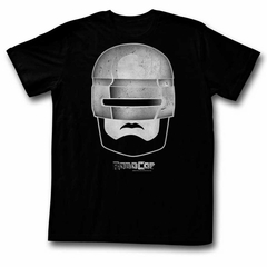 Robocop Shirt Stone Face Black T-Shirt