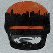 Robocop Shirt Sunset Over Delta City Adult Grey Tee T-Shirt