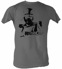 Robocop T-Shirt - Built For Justice Adult Charcoal Tee Shirt