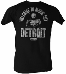 Robocop T-Shirt Movie Welcome Adult Black Tee Shirt