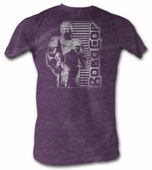 Robocop T-Shirt - Vintage Adult Heather Plum Tee Shirt