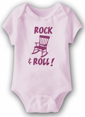 Rocking Chair Funny Baby Romper Pink Infant Babies Creeper