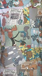 Rocky And Bullwinkle Collage Sublimation Shirts