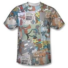Rocky And Bullwinkle Shirt Collage Sublimation Shirt