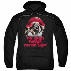 Rocky Horror Picture Show  Hoodie Cast Throne Black Sweatshirt Hoody