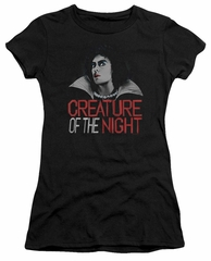Rocky Horror Picture Show  Juniors Shirt Creature Of The Night Black T-Shirt