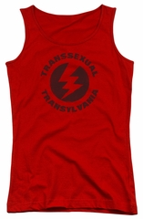 Rocky Horror Picture Show  Juniors Tank Top Transsexual Transylvania Red Tanktop