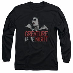 Rocky Horror Picture Show  Long Sleeve Shirt Creature Of The Night Black Tee T-Shirt