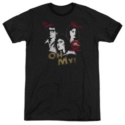Rocky Horror Picture Show  Oh My Black Ringer Shirt