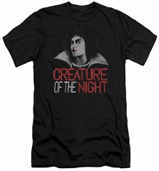 Rocky Horror Picture Show  Slim Fit Shirt Creature Of The Night Black T-Shirt