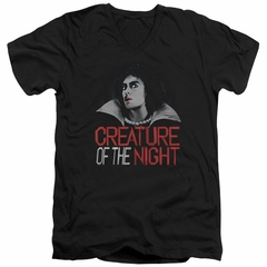 Rocky Horror Picture Show  Slim Fit V-Neck Shirt Creature Of The Night Black T-Shirt