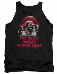 Rocky Horror Picture Show  Tank Top Cast Throne Black Tanktop