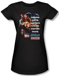 Rocky Juniors T-shirt One And Only Apollo Creed Black Tee Shirt