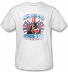 Rocky Kids T-Shirt Apollo Creed Classic Youth White Tee Shirt