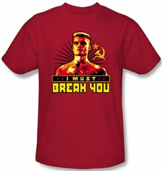 Rocky Kids T-Shirt I Must Break You Drago Youth Red Tee Shirt