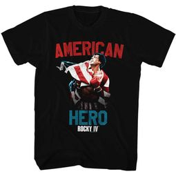 Rocky Shirt American Hero Black T-Shirt