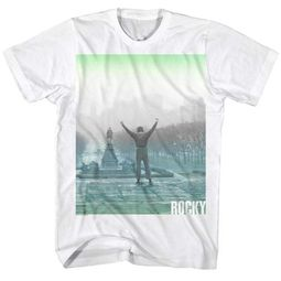 Rocky Shirt Arms Raised High White T-Shirt
