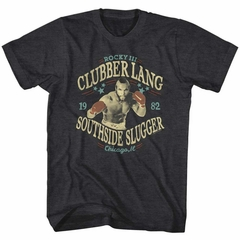 Rocky Shirt Clubber Lang Poster Charcoal Heather T-Shirt