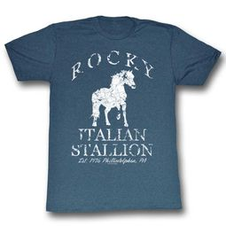 Rocky Shirt Distressed White Horse Slate T-Shirt