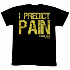 Rocky Shirt I Predict Pain Black T-Shirt