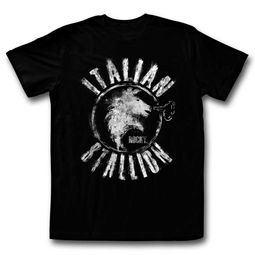 Rocky Shirt Italian Stallion Black T-Shirt
