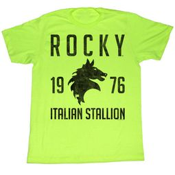 Rocky Shirt Italian Stallion Lime Green T-Shirt
