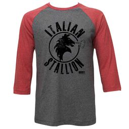 Rocky Shirt Raglan Italian Stallion Red/Athletic Heather Shirt