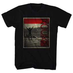 Rocky Shirt Red Line Black T-Shirt