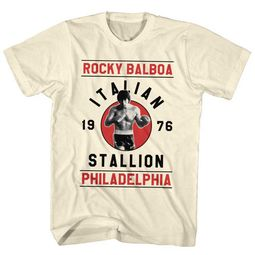 Rocky Shirt Rocky Balboa Is The Italian Stallion Cream T-Shirt