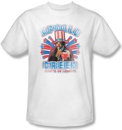 Rocky T-Shirt Apollo Creed Classic Adult White Tee Shirt