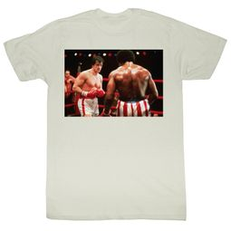 Rocky T-shirt Boxer Gripin and Trippin Adult White Tee Shirt