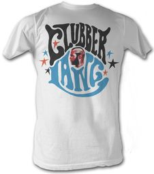 Rocky T-shirt Clubber Lang Classic Adult White Tee Shirt