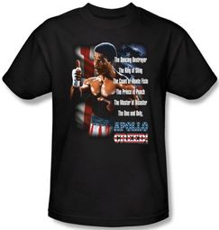Rocky T-shirt One And Only Apollo Creed Adult Black Tee Shirt