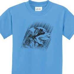 Rottweiler Sketch Kids Shirts