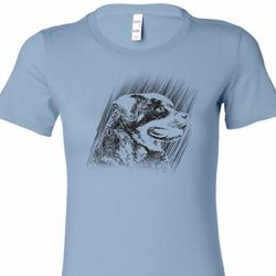 Rottweiler Sketch Ladies Shirts