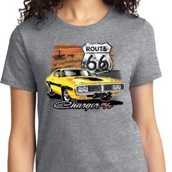 Route 66 Charger RT Ladies Dodge Shirts