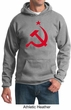 Russian Hoodie Hammer and Sickle Red Print Adult Hoody