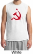 Russian Shirt Hammer and Sickle Red Print Adult Muscle Shirt