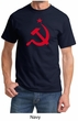Russian Shirt Hammer and Sickle Red Print Adult T-shirt