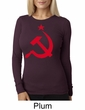 Russian Shirt Hammer and Sickle Red Print Ladies Thermal Shirt