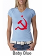 Russian Shirt Hammer and Sickle Red Print Ladies V-neck Shirt