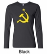 Russian Shirt Hammer and Sickle USSR Ladies Long Sleeve Shirt