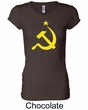 Russian Shirt Hammer and Sickle USSR Ladies Longer Length Shirt