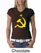 Russian Shirt Hammer and Sickle USSR Ladies V-neck Shirt