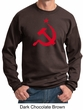 Russian Sweatshirt Hammer and Sickle Red Print Adult Sweat Shirt