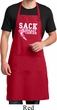 Sack Breast Cancer Full Length Apron with Pockets