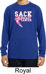Sack Breast Cancer Kids Dry Wicking Long Sleeve Shirt