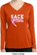 Sack Breast Cancer Ladies Dry Wicking Long Sleeve Shirt